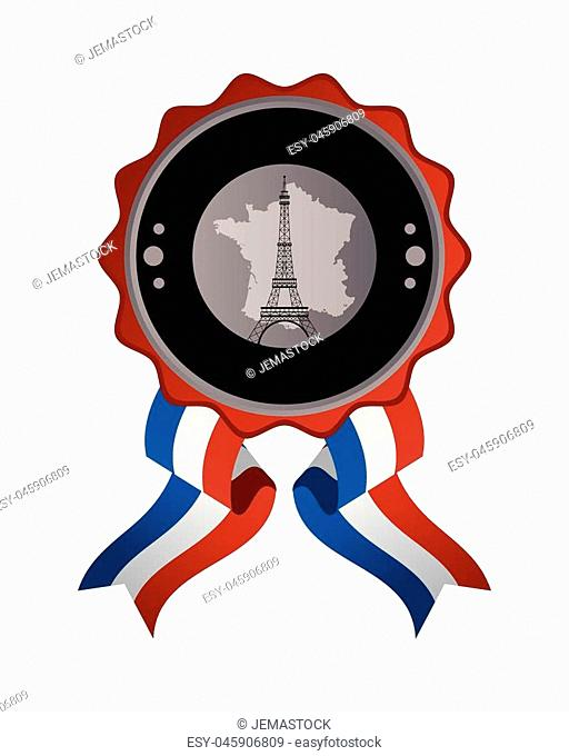 flat design france emblem icon vector illustration