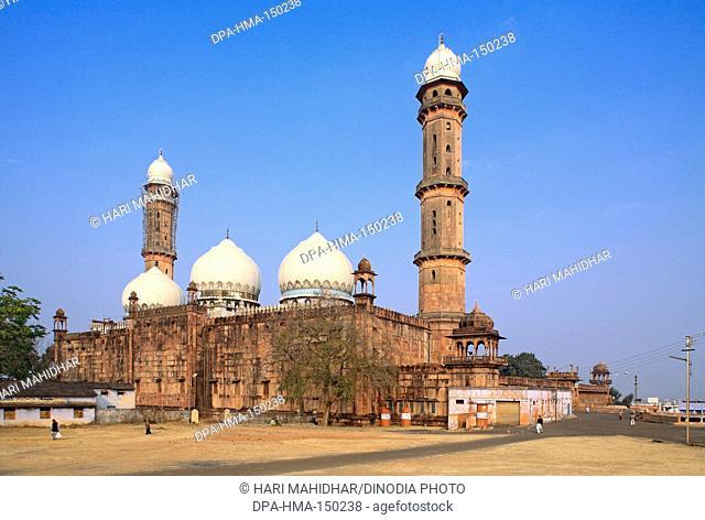 Taj ul Masjid built in 1868 by Shah jahan begum ; Bhopal ; Madhya Pradesh ; India