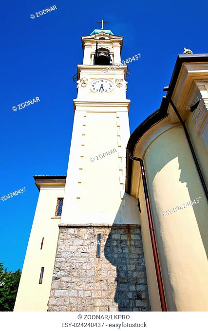 ancien clock tower in  stone and bell