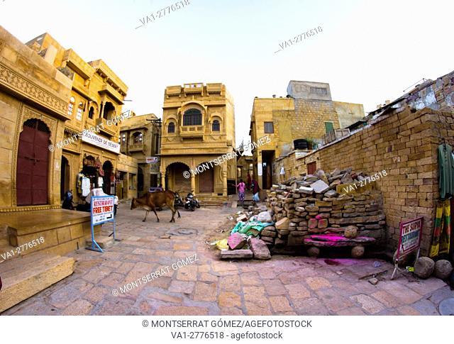 Streets inside the fort of jaisalmer
