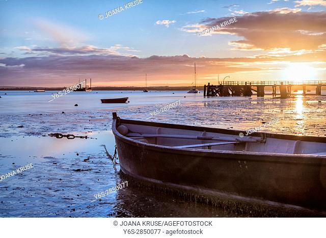 Lake Pier, Hamworthy, Poole, Dorset, England, UK