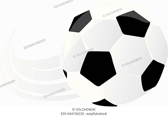 Vector illustration of a soccer ball. Football style. Can be used for invitations, gifts, leaflets, brochures