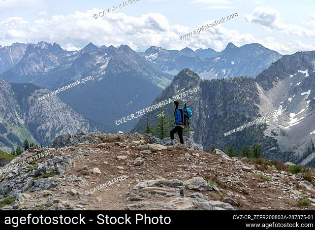 Hiking scenes in the North Cascades wilderness