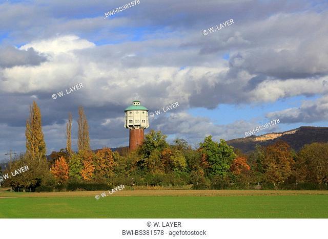 old water tower near Edingen, Germany, Baden-Wuerttemberg