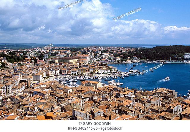 Croatia - View over Rovinj from the 197ft bell tower of the Church of St Euphemia