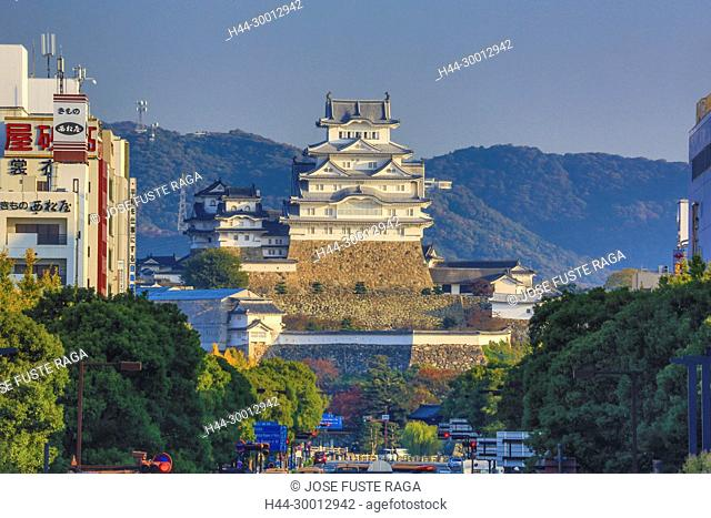 Japan, Himeji City, Himeji Castle, Shirazaki Jo, (W.H.)