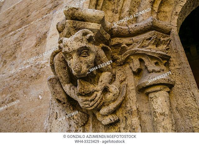 La Lonja de la Seda. Silk market. World Heritage Site by UNESCO. 16th century. Valencia. Comunidad Valenciana. Spain
