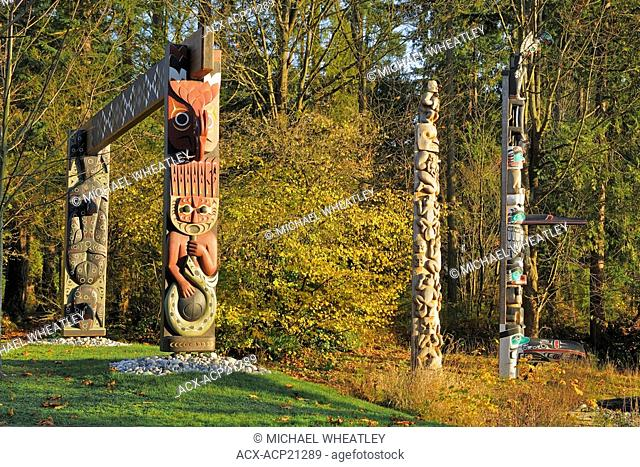 2008, New permanent artwork in Stanley Park, by Coast Salish artist Susan Point, Entitled People Amongst the People, the work consists of three 15- to...