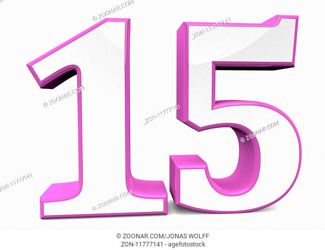Grosse Nummer in pink