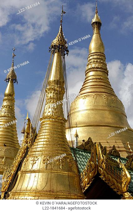 The Shwedagon Pagoda officially titled Shwedagon Zedi Daw also known as the Great Dagon Pagoda and the Golden Pagoda, is a 99 metres  325ft  gilded pagoda and...