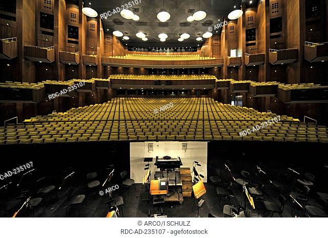 Auditorium and orchestra pit, view from stage, Deutsche Oper, Berlin, Germany, German Opera