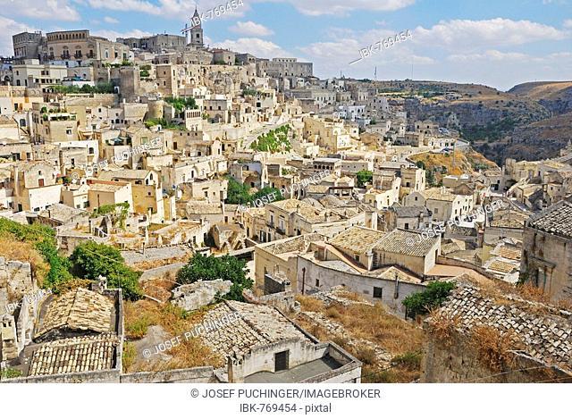 Mountain village, Matera, Basilicata, South Italy, Europe