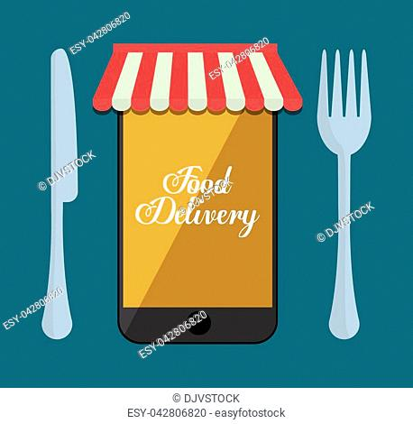 web or online food delivery related icons image vector illustration design