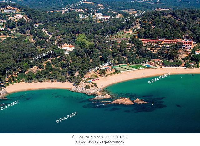 Santa Cristina Beach and Treumal beach. Lloret de Mar. Costa Brava