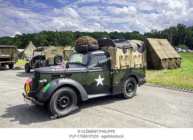 WW2 US army Hillman Light Utility Truck / military Hillman Tilly at World war Two militaria fair