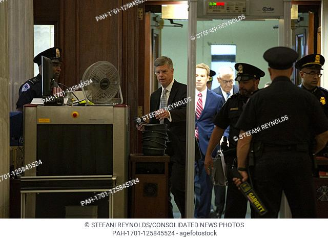 William Taylor, the acting U.S. ambassador to Ukraine, arrives to his closed-door deposition before the U.S. House Intelligence