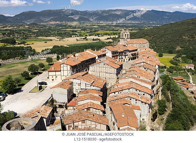 Frías  View from the castle, Burgos province, Castille-Leon, Spain