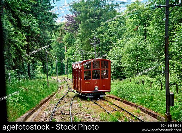 Heidelberg hill tram near castle