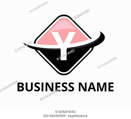 pink and black color circular square box get slice into half logo graphic design with modern clean style for technology industry company with initial type...