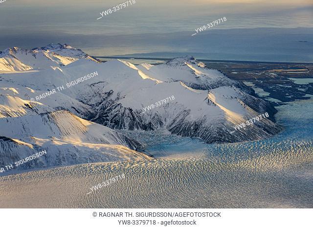 Breidamerkurjokull, Vatnajokull Ice Cap, Iceland. Unesco World Heritage Site