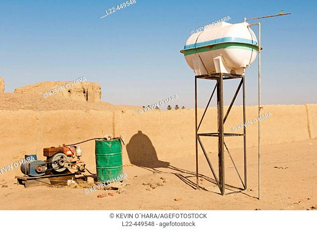 Generator. The early Nubian city of Kerma after excavation by the swiss team of prof. Charles Bonnet of the University of Geneva. Sudan. Africa