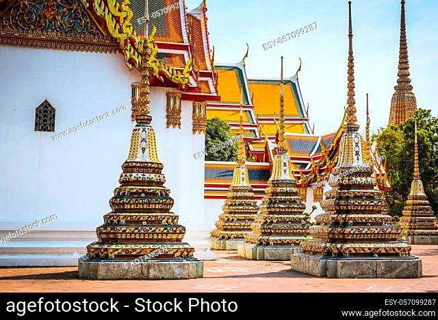 Wat Pho in Bangkok, Thailand. Wat Pho is landmark also known as temple of reclining Buddha