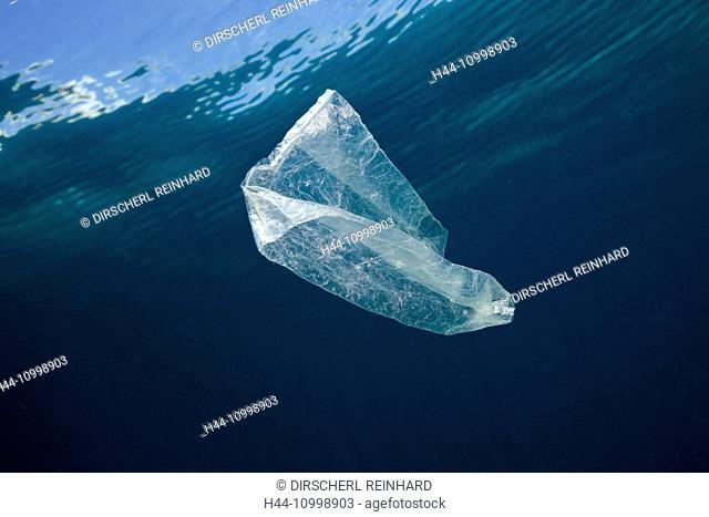 Plastic Bag adrift in Ocean, Indo Pacific, Indonesia