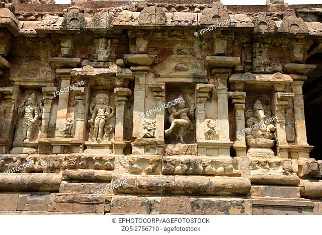 Niches on the southern wall, Amman temple of goddess Brihannayaki, Brihadisvara Temple complex, Gangaikondacholapuram, Tamil Nadu, India