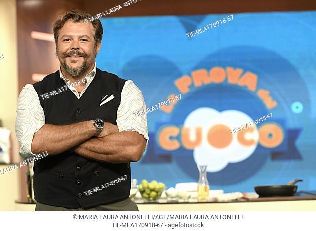 The former rugby player Andrea Lo Cicero during the tv show La prova del cuoco, Rome, ITALY-17-09-2018
