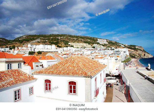 Landscape of Sesimbra village, Portugal