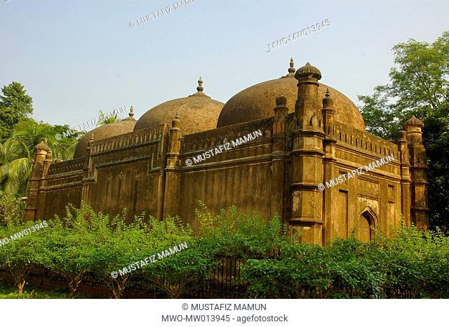 The mosque of Khwaja Shabaz, the merchant prince of Dhaka during the viceroyalty of Prince Muhammad Azam The mosque, built in 1679 AD