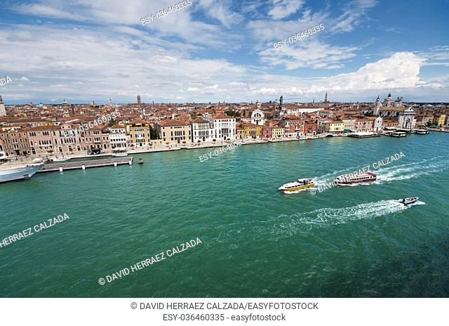 Scenic view of Venice cityscape, Venice, Italy