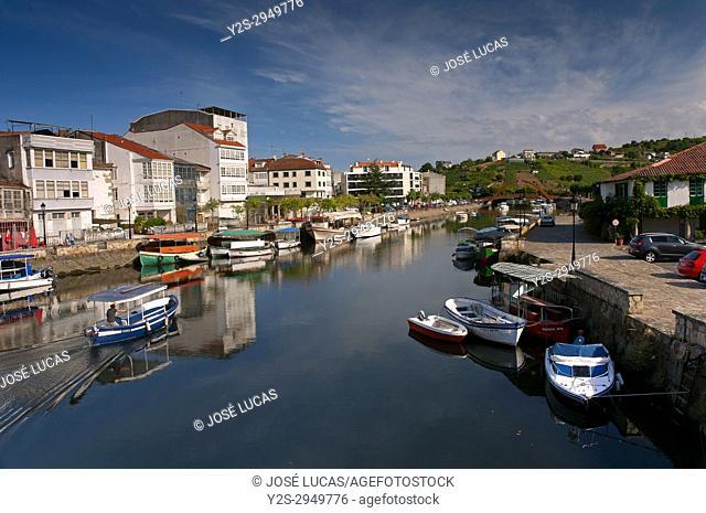 Mandeo river, Betanzos, La Coruna province, Region of Galicia, Spain, Europe