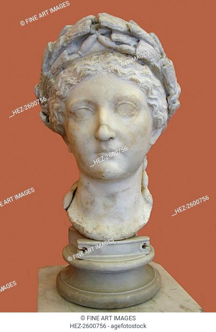 Bust of Livia Drusilla, 1st H. 1st cen. AD. Found in the collection of the State Hermitage, St. Petersburg