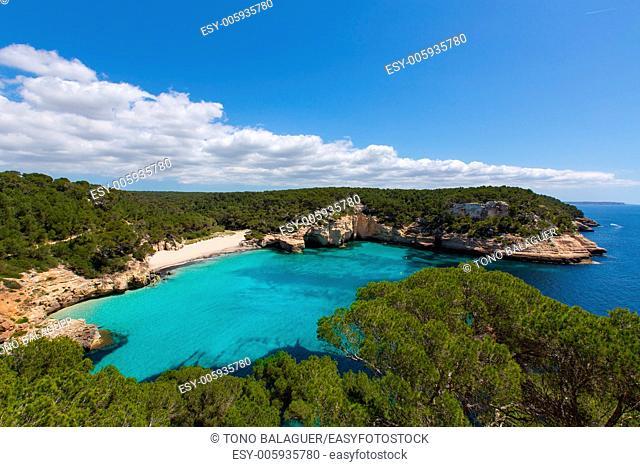 Cala Mitjaneta in Menorca Ciutadella at Balearic islands