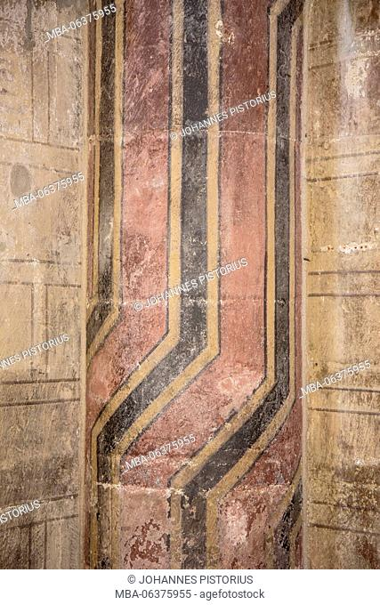 Europe, Germany, North Rhine-Westphalia, Cologne, remains of the Romanesque wall painting in Great St. Martin Church