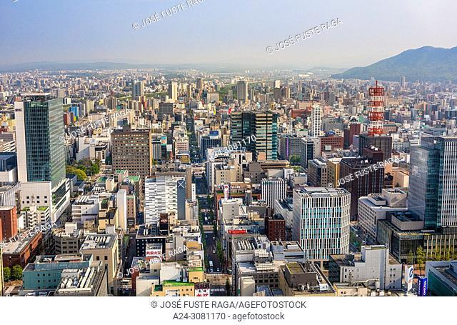Japan, Hokkaido, Sapporo City panorama