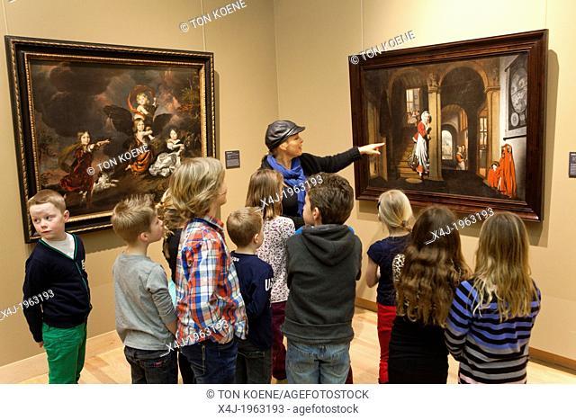 Dutch children at the museum in dordrecht