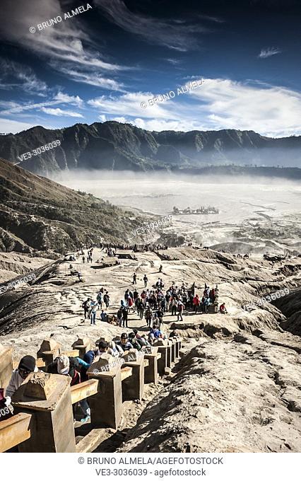 Stairs in Bromo's slope, Bromo Tengger Semeru National Park (East Java, Indonesia)