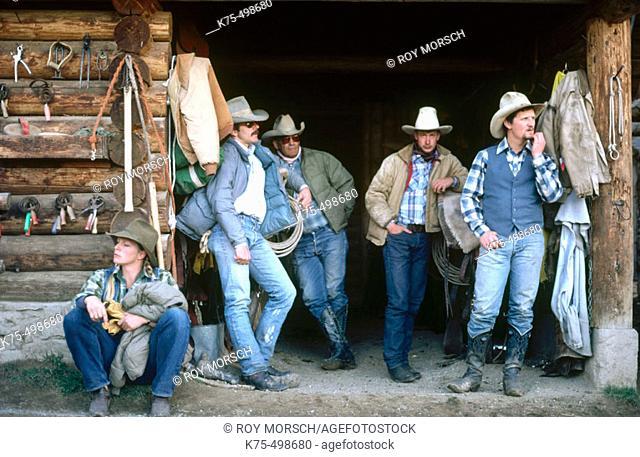 Cowboys horse ranch. Montana. USA