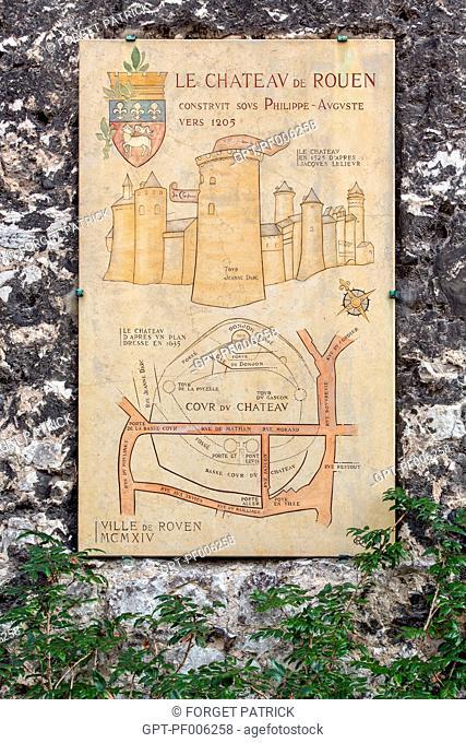 ROUEN CASTLE BUILT UNDER PHILIP AUGUSTUS AROUND 1205, ROUEN (76), FRANCE