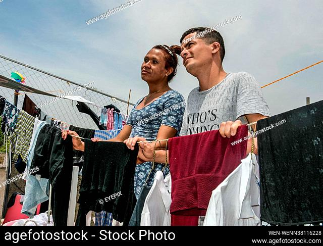 Migrants Transgender couple from Honduras, Alejandra and David, who fled their native country due to violence against the LGBTIQ community on their journey to...