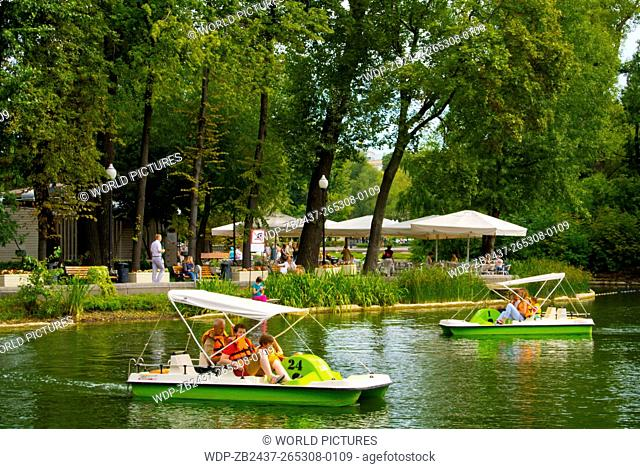 Golitsinsky pond, Gorky Park, Moscow, Russia, Europe