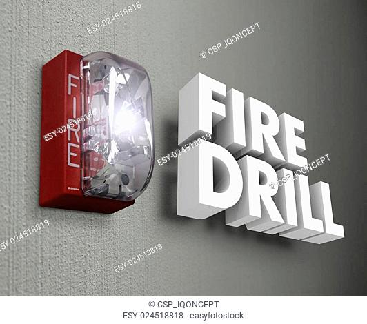 Fire Drill Alarm Emergency 3d Words