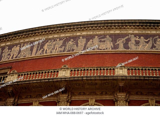 The Royal Albert Hall is a concert hall in South Kensington, London. It has a capacity of up to 5,272 seats. Since its opening by Queen Victoria in 1871
