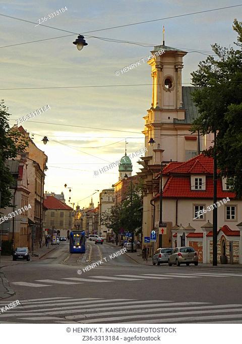 Stradom street in Krakow, Poland