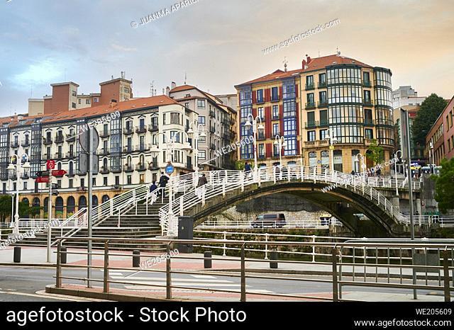Puente de la ribera (Ribera Bridge) bilbao, biscay, basque country, euskadi, euskal herria, spain, europe