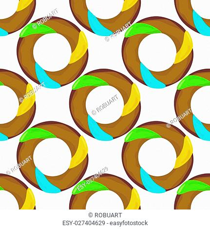 Donut seamless background texture pattern. Cute donuts with glazing. Seamless pattern. Delicious donut glazed. Donut pattern. Vector donuts pattern