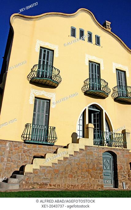 Xalet Montiu, art nouveau, Balaguer, Catalonia, Spain