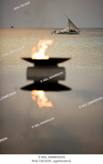 Flame and Boat, Maldives